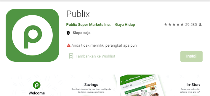 How to use the Publix App to find a product in your Publix