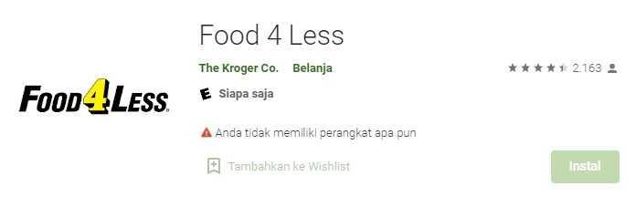 Food 4 Less Application